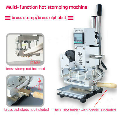 Digital brass stamp alphabet letters logo embossing Label hot stamping Machine A