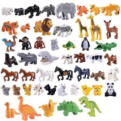 DIY Animal Model Figures Set Elephant Monkey Horse Kids Educational Toys Gift