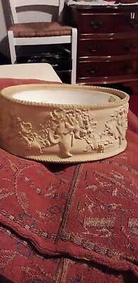Wedgwood Caneware Game Pie Dish And Liner No Lid 7 X 4.5 Inch Antique