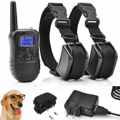 330 Yards E-collar Trainer Pet Electric 1 2 Dog Remote Shock Training Collar SL