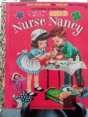 NURSE NANCY Little Golden Book 1958 VGC  (No bandages)