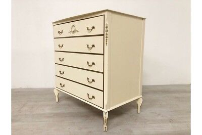 Vintage French Louis Style Shabby Chic Chest Of Drawers 1960's
