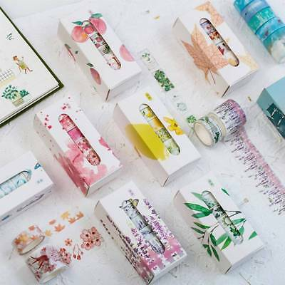 5Pcs/pack Paper Washi Tape Set Stationery DIY Scrapbooking Sticker Label Craft