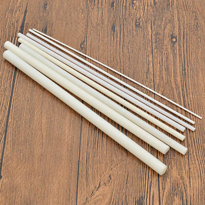 ABS Styrene Plastic Round Bar Rods DIY Scene Model Dollhouse Hand Craft White