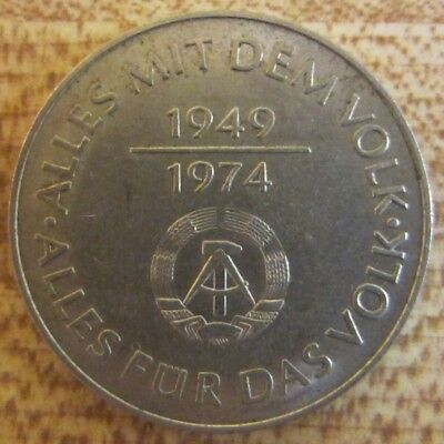 Original East German DDR Everything with & for the People 10 Mark Coin 1974 A