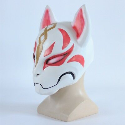 Halloween Fox Drift Mask Maske Masken Latex Helmet Helm Cosplay Party Karneval