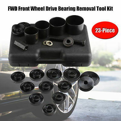 Front Wheel Drive Bearing Removal Adapter Puller Pulley Tool Kit Case 23 Pieces