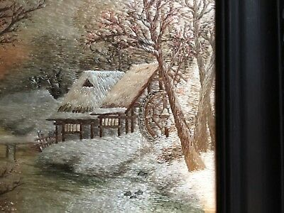 Stunning Silk Embroidery Picture Oriental? Immaculate