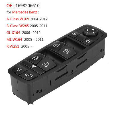 Electric Power Master Window Control Switch 1698206610 For Mercedes Benz W245