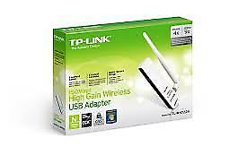 TP-Link TL-WN722N, 150Mbps High Gain Wireless USB Adapter,  1T1R, 2.4GHz, 802...