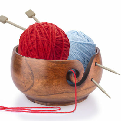 Manual Woolen Sweater Knitting Crochet Wooden Bowl Yarn Wool Needle Holder DIY