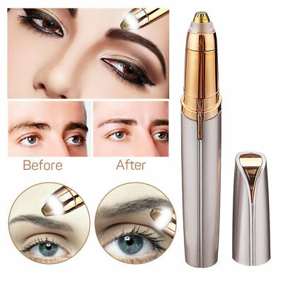 Women's Electric Brows Painless Trimmer Electric Eyebrow Hair Removal LED Light