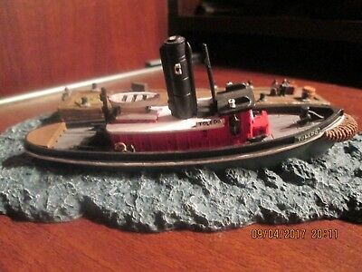 Tugboat Toledo Model Boat By Anchor Bay with Case