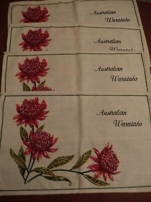 Australian Waratahs~~Set Of Four Palcemats