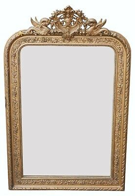 A Late 19th Century French Overmantel Mirror