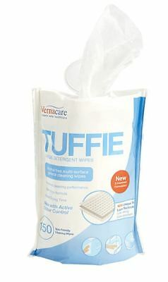 Vernacare Tuffie Detergent Flexican Wipes, Pack of 150 x 6