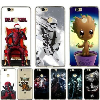 For Huawei Honor 10 9 8 Lite 7X 7A Soft Silicone Cartoon Marvel Clear Case Cover