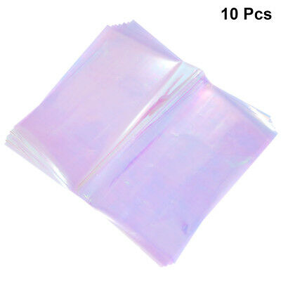 10x 60x50cm Flower Packaging Paper Iridescent Film Cellophane Wrapping For Girls