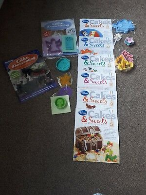 Deagostini Cake Decorating and Disney Cakes and Sweets Bundle x VGC x