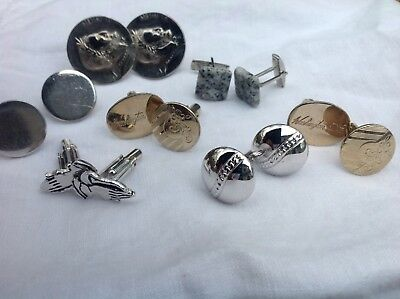 Vintage Cufflinks Lot of Six Pairs  Cuff Links Man Jewelry