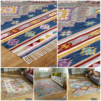 Extra Large Hand Made Kelim Rugs By Wool Cotton Multi Coloured By Oriental Weave