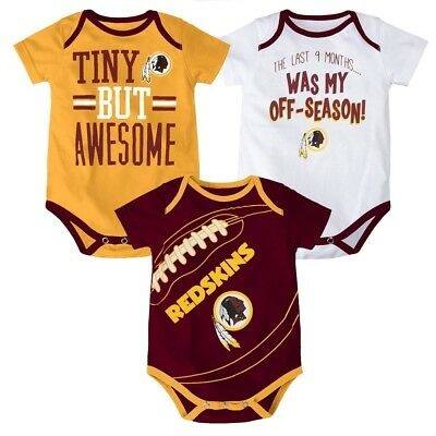 Washington Redskins NFL Outerstuff Infant Maroon Gold White 3 Piece Creeper Set