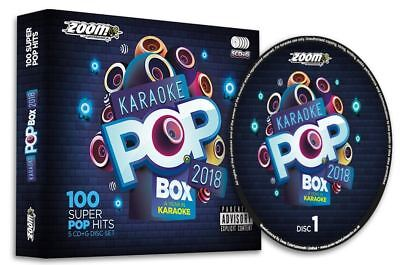 Zoom Karaoke Pop Box 2018 - 5 CD+G Party Pack with 100 Best Pop Tracks from 2018
