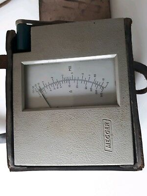 Vintage MEGGER 70142 Insulation Tester  WIND-UP  HAND  POWERED 60's