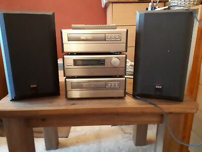 Denon Hifi System With 2 B&W Speakers