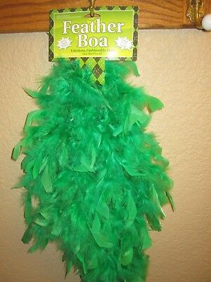 GREEN Feather Boa 5 ft Long Fun Costume Dress Up Accessory SHIPS Free