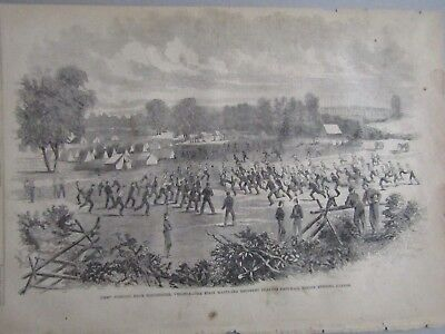 Harpers 1861 Union Regiment Playing Football