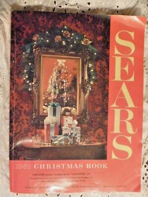 1961 Sears Christmas Wishbook Catalog Toys Barbie Disney Excellent!