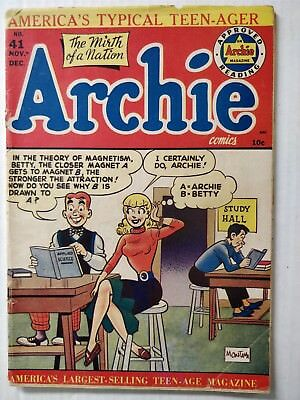 Archie Comics #41  Classic Betty Headlight Cover