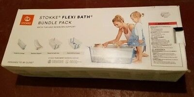 New in box Stokke Flexi Bath Bundle Pack: Bathtub and Newborn Support
