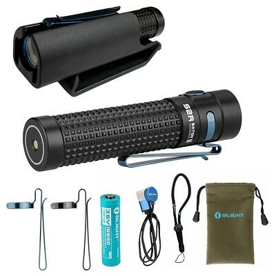 Olight S2R II Baton 1150 Lm rechargeable LED flashlight w/ Kydex Clip-on Holster