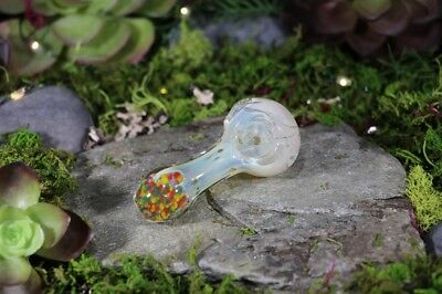 """3"""" INCHES Rainbow Flecked TOBACCO Smoking Pipe Herb Bowl Glass Hand Pipes"""