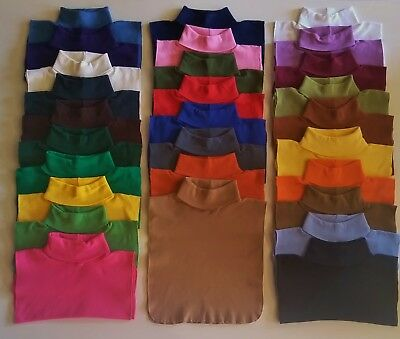 Turtle Neck Dickie 12 Pack 100% Cotton Made In Usa Direct From Mfg Free Shipping