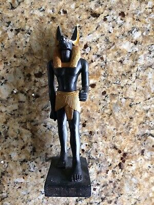 Used Anubis Ancient Egyptian God Statue