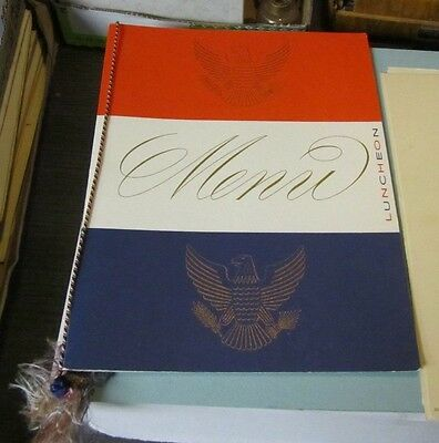 November 6 1956 SS United States Cruise Ship Lunch Menu Red White Blue Eagles