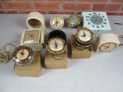 Large Lot of Vintage Art Deco Clocks And Parts