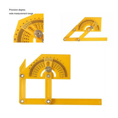 """6"""" Angle Finder Protractor Goniometer Miter Gauge Plastic Brass Fittings"""