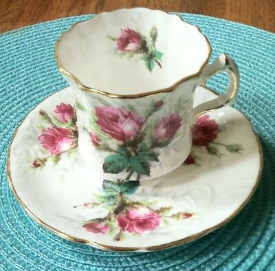 Vintage Hammersley Bone China Tea Cup Grandmother's Rose made in England
