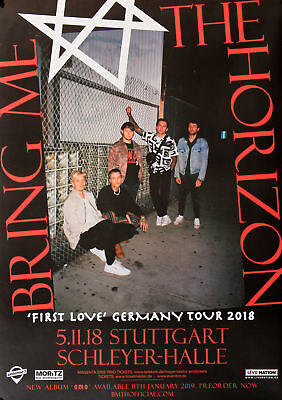 Bring Me The Horizon - First Love, Stuttgart 2018 | Konzertplakat | Poster