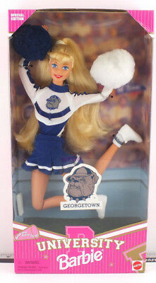 1996 University Barbie Doll GeorgeTown (jumping left) New from Dealer Stock