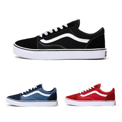 New Vans Old Skool Skate Shoes Classic Canvas Sneakers Size UK3-UK9.5 / Eu 35-44