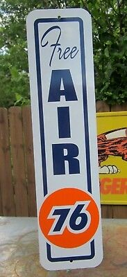 Unocal 76 Free Air Sign Eco Meter Service Station Gas Pump Tire Inflating Union