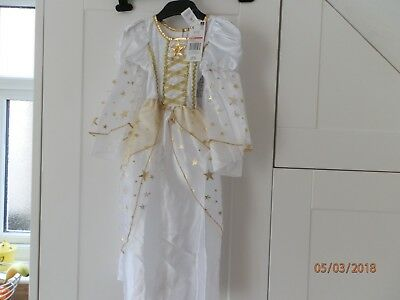 Angel Costume Nativity Fairy Princess White Gold Dress Baby Toddler