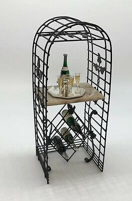 Dollhouse Miniature Artisan Wine Display/Stand Jason Getzan? (r)