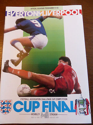 FA Cup Final Programme 1985/86 - Everton V Liverpool - 10th May 1986