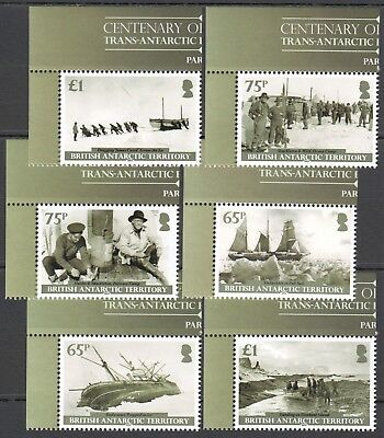 I444 2014 British Antarctic Territory Ships Expedition Michel 15 Euro Set Mnh